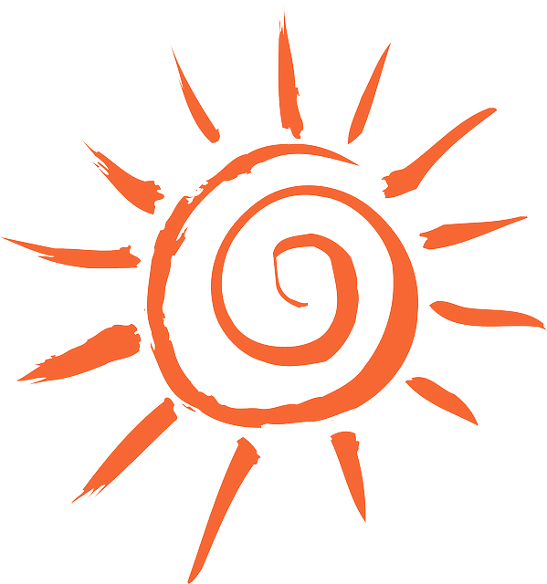 summer sunshine sun  vector graphic  pixabay