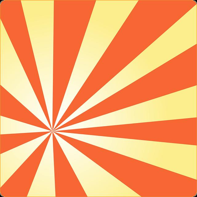 Sunburst Sun Rays Orange · Free Vector Graphic On Pixabay