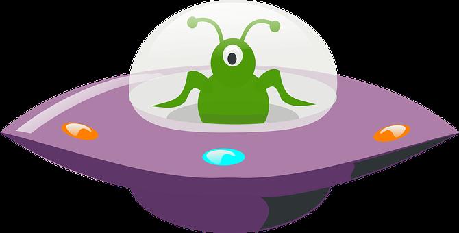 Ufo, Pozaziemskie, Zielony
