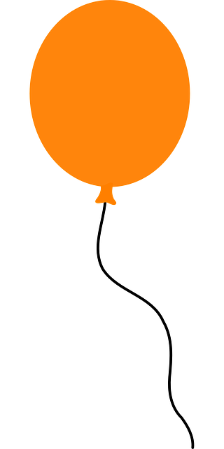 Free vector graphic balloon floating orange party free image on