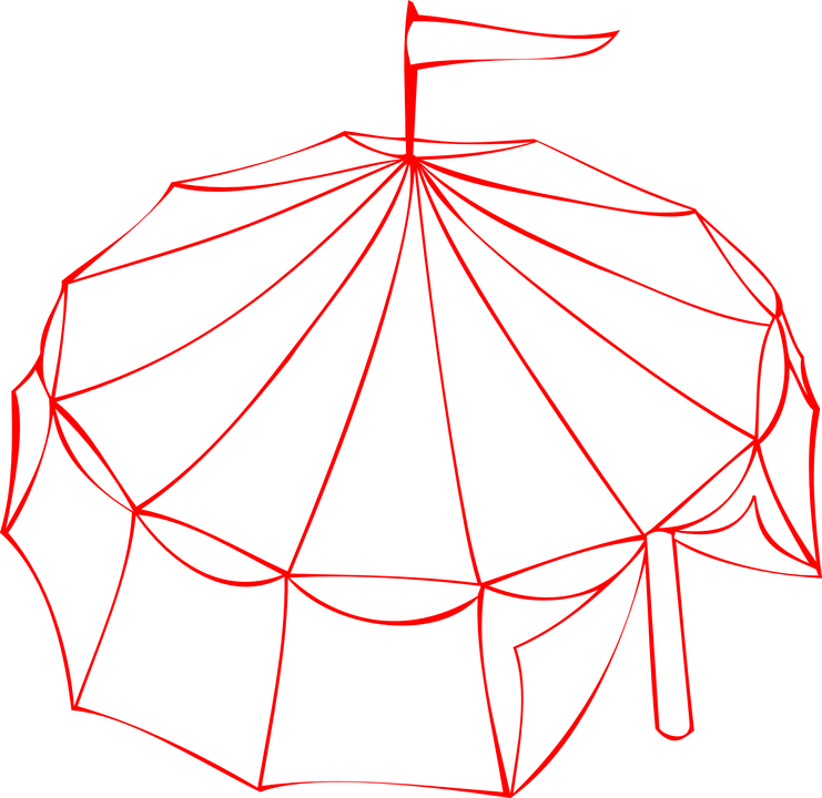 Big Top Circus Tent Red Outline  sc 1 st  Pixabay & Free vector graphic: Big Top Circus Tent Red Outline - Free ...