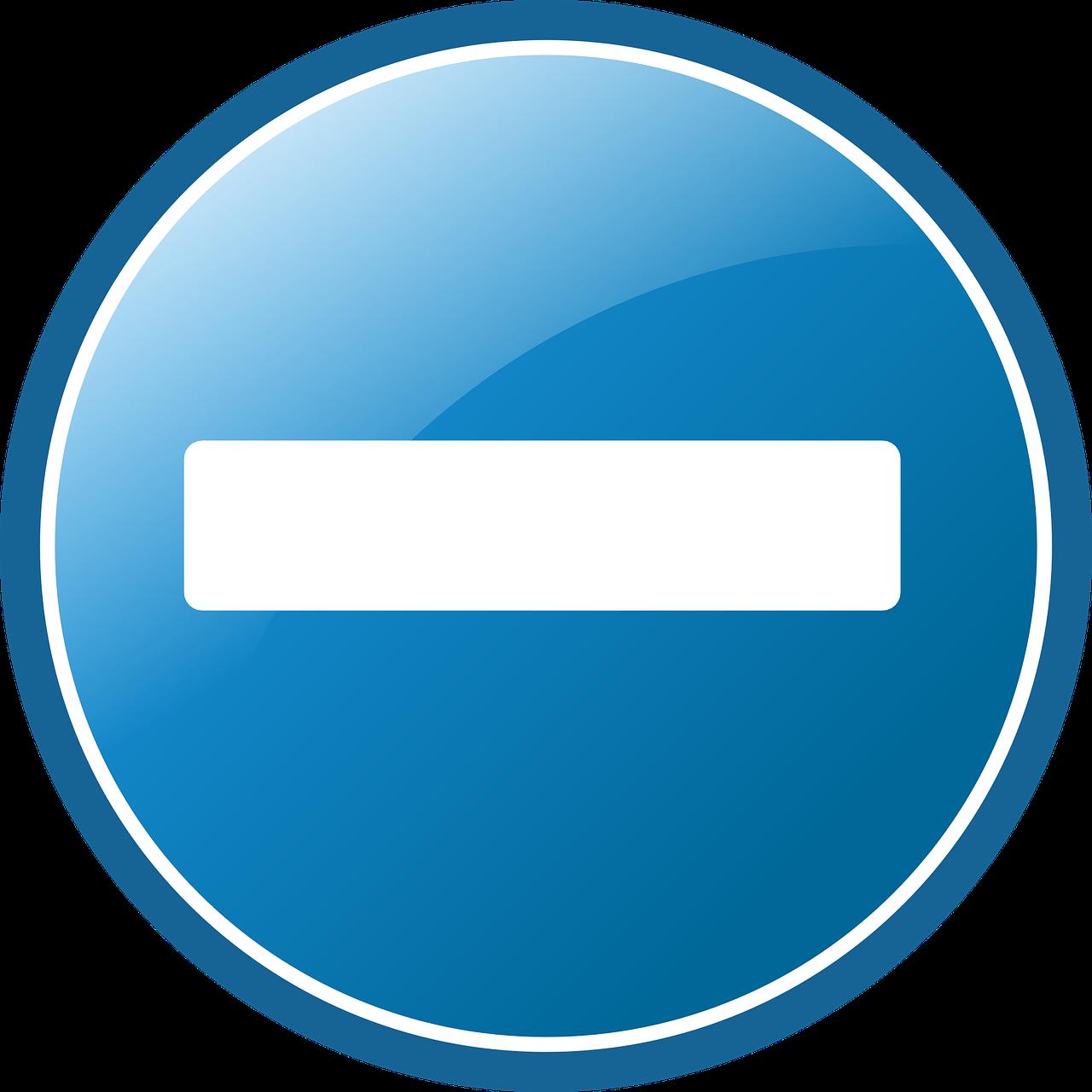 Знак минус картинка