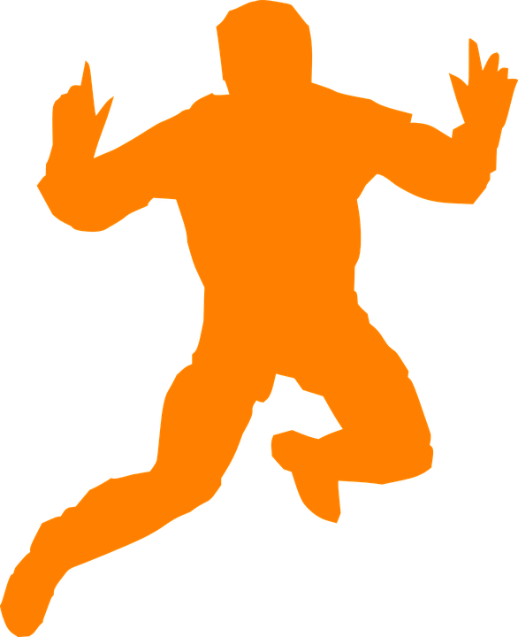 free vector graphic man orange jump silhouette free