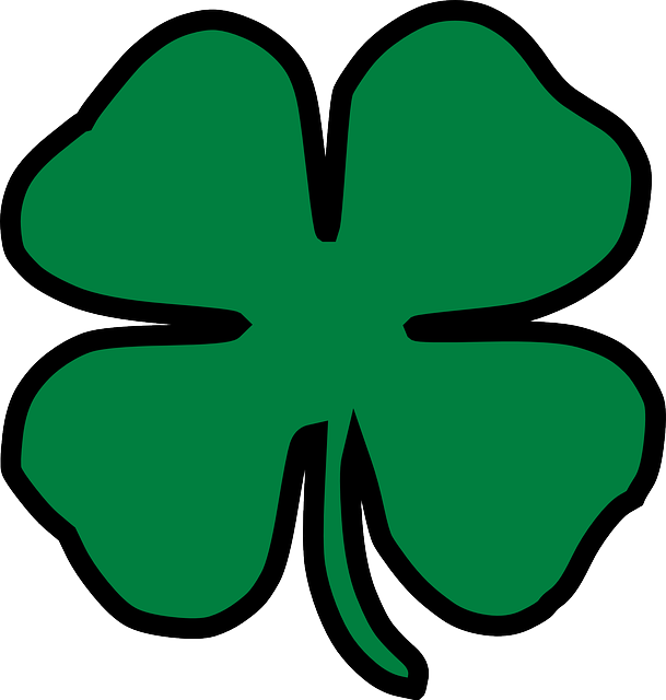 clover four leaf lucky  u00b7 free vector graphic on pixabay clover clipart black and white clover clipart border