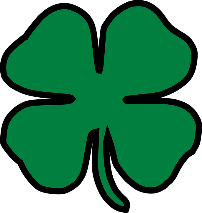 clover four leaf lucky free vector graphic on pixabay