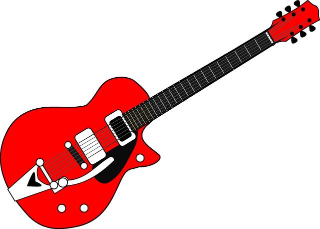 guitar red black free vector graphic on pixabay. Black Bedroom Furniture Sets. Home Design Ideas