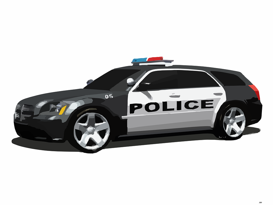Police Car Cops 183 Free Vector Graphic On Pixabay