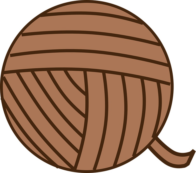 Free Vector Graphic: Ball Of Yarn, Yarn, Brown, Knit
