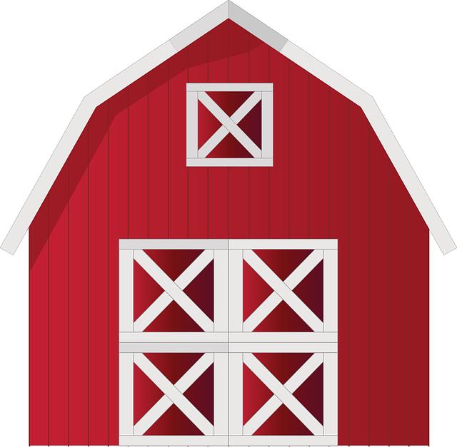 Free Vector Graphic: Barn, Farm, Red, Farm House