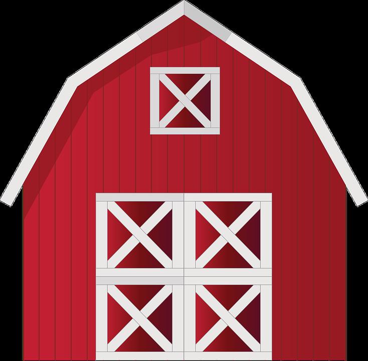 Granero granja rojo casa gr ficos vectoriales gratis en pixabay - Casa rural la granja ...