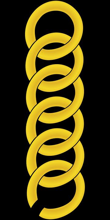 Rantai Link Emas · Gambar vektor gratis di Pixabay