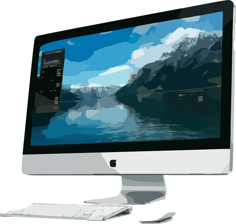 computer apple inc monitor free vector graphic on pixabay. Black Bedroom Furniture Sets. Home Design Ideas
