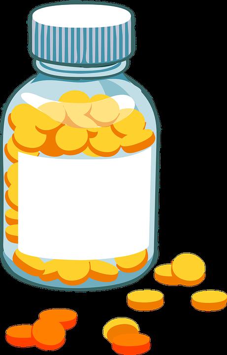 medicine bottle pills free vector graphic on pixabay rh pixabay com pill bottle spill vector vector pill bottle silhouette