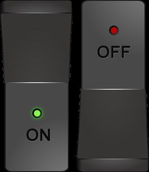 スイッチ, ボタン, 電源, オフ, に, 切り替え, グレーの力
