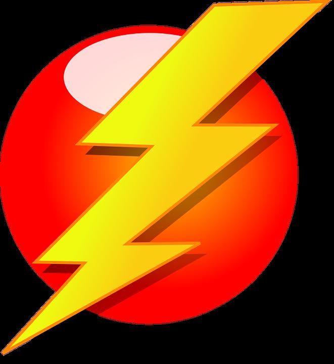 car with lightning bolt symbol