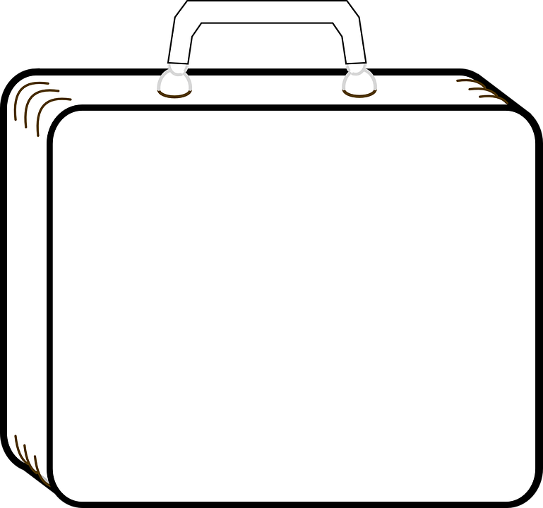 Suitcase Luggage Outline , Free vector graphic on Pixabay