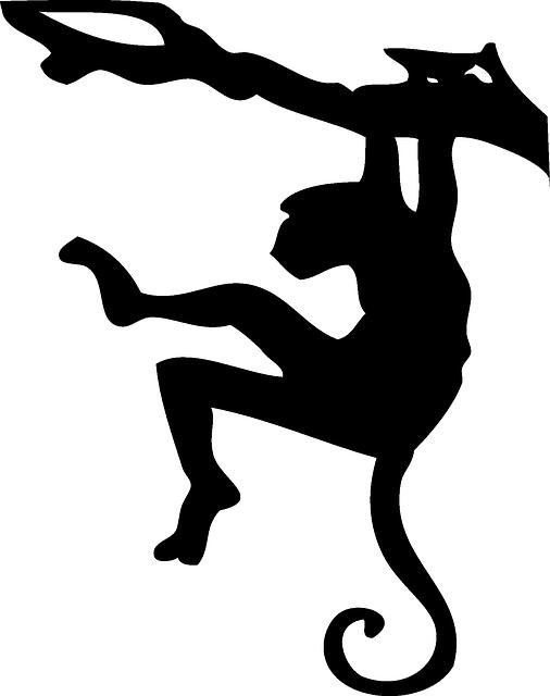 Free Vector Graphic Monkey Ape Tree Hanging Free Image On Pixabay 297872