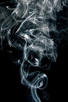 Smoke, Fumes, Black, White, Curve
