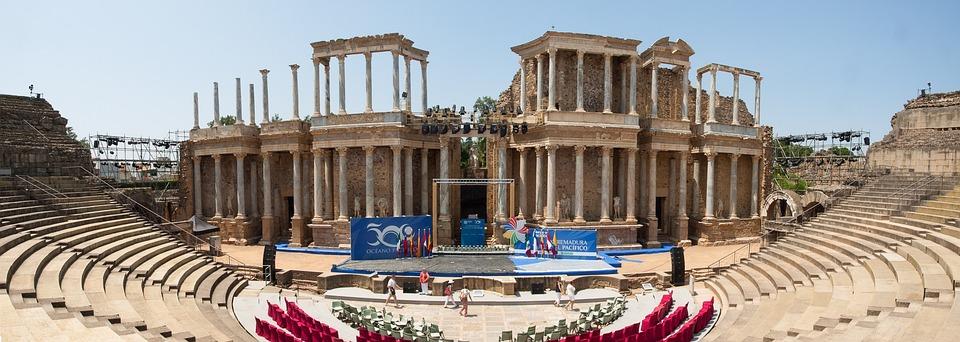 Teatro Romano, Mérida, España, Hito, Cultura, Ruinas