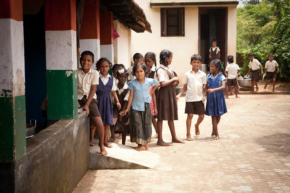 School, Nursery, Children, India, Mangalore, Childhood