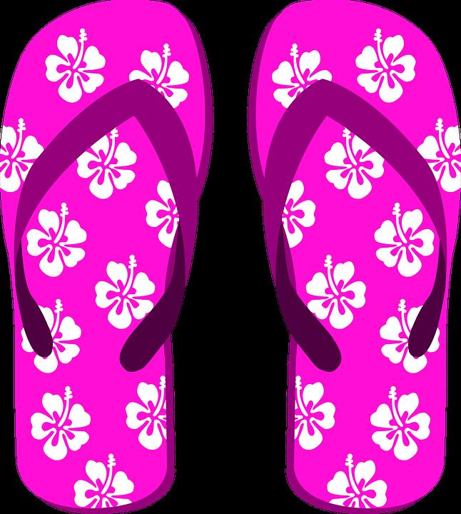 Flip Flops, Zapatillas, Zapatos De La Playa, Corazón