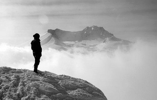Mountain, Hiking, Girl, Woman, Trekking