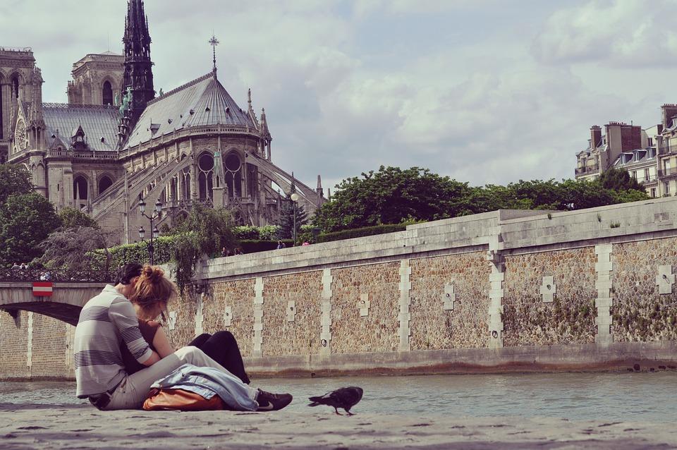 Free photo love couple paris romance free image on for Romantic evening in paris