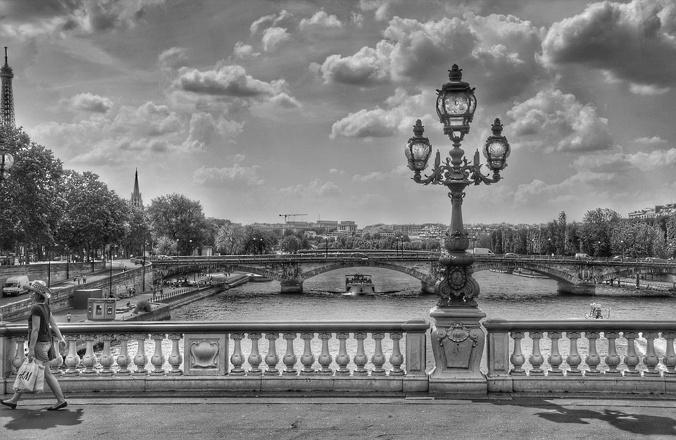 Souvent Photo gratuite: Pont, Noir Et Blanc, Lanterne - Image gratuite sur  ZN14