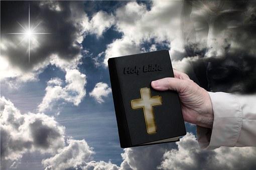 Bible, Hand, Sky, Jesus, Sky Blue