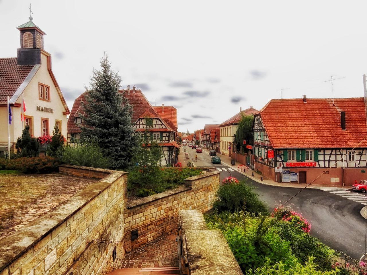荷兰田园儿童画_欧洲乡村小镇风景建筑_欧洲乡村小镇风景建筑画法