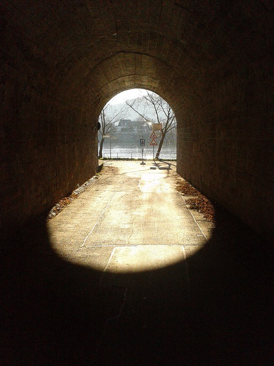 free photo passage tunnel light shadow free image on