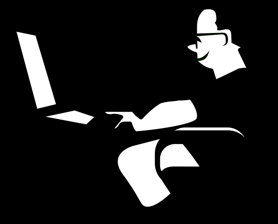 Arbeitsplatz zeichnung  Kostenlose Vektorgrafik: Computer, Mann, Arbeitsplatz ...