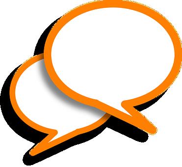 スピーチの泡, コメント, オレンジ, バブル, 音声, 話, 通信
