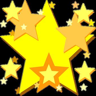 Stars, Yellow, Shiny, Shine, Bright