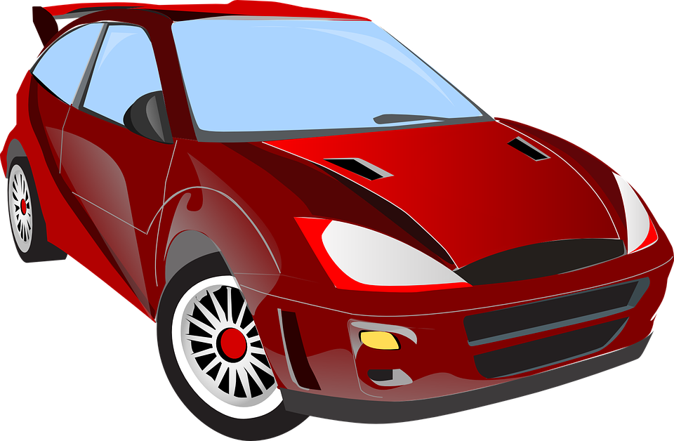 Free Vector Graphic Car Red Shiny Racing Car Free Image On