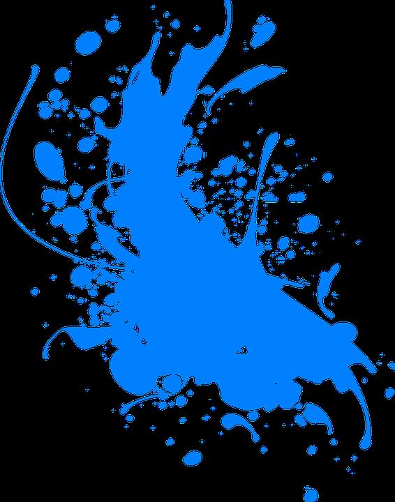 image vectorielle gratuite  encre  bleu   u00c9claboussures  r u00e9sum u00e9 - image gratuite sur pixabay