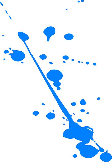 Free Vector Graphic: Splatter, Splash, Ink, Blue, Paint