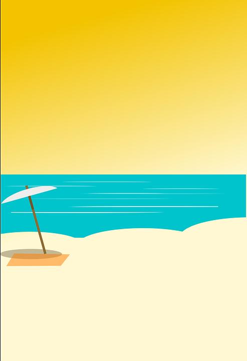u00dccretsiz vekt u00f6r  u00e7izim beach  kum   u015eemsiye  deniz  ocean beach umbrella clip art free beach umbrella clip art png
