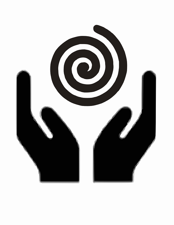 free vector graphic  spirituality  spiral  hands - free image on pixabay