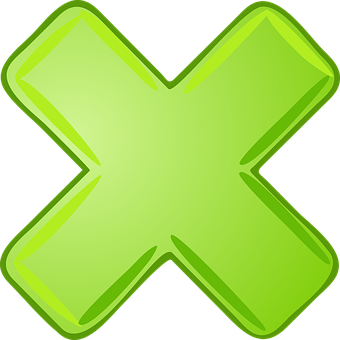 Multiply, X, Cancel, Abort, Sign, Green