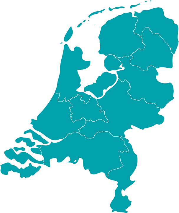 Netherlands, Holland, Map, Europe, Dutch, Blue, Country