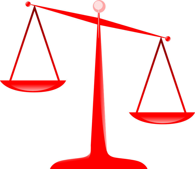 scales justice red free vector graphic on pixabay rh pixabay com weight balance scale clipart balance scales images clip art