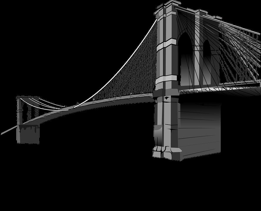 brooklyn bridge suspension free vector graphic on pixabay rh pixabay com brooklyn bridge silhouette vector free brooklyn bridge vector art