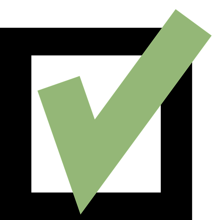 Check Mark Box Green Free Vector Graphic On Pixabay