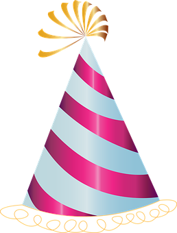 Happy Birthday, Hat, Party, Pink