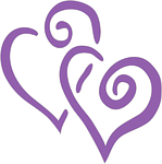 hearts, double, purple