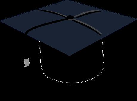 Graduation, Black, Cap, Education