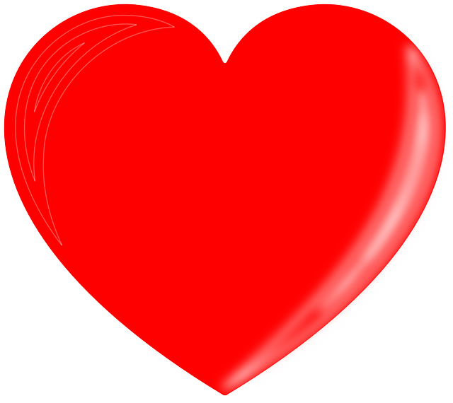 Free vector graphic heart love red valentine free for Clipart cuore