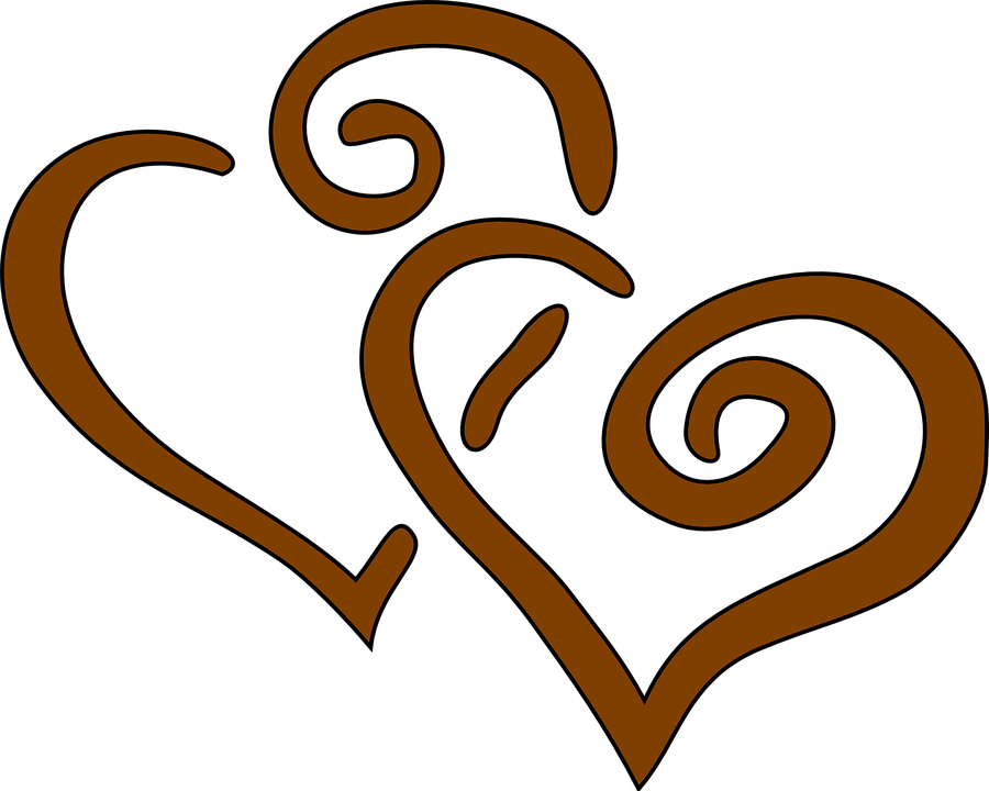 hearts brown together free vector graphic on pixabay rh pixabay com red heart clipart free clipart heart free download