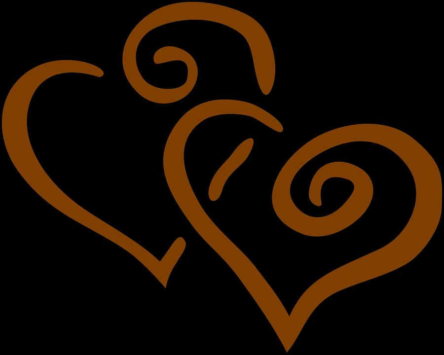 Herzen Brown Zusammen Kostenlose Vektorgrafik Auf Pixabay